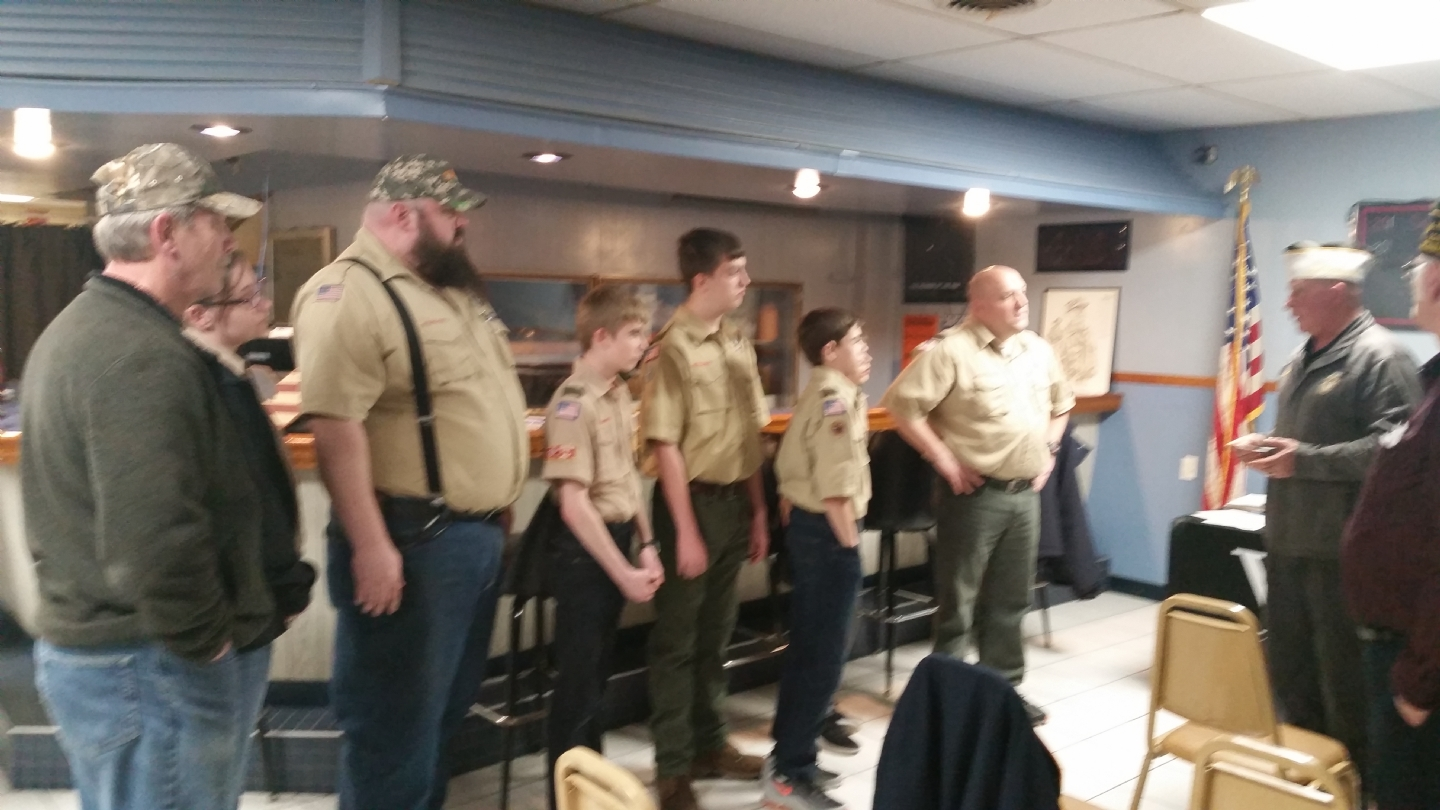 Commander talking to Scouts and Leaders from Troop 368